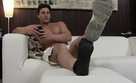 Spy On Aldo's Sweaty Naked Feet - Aldo